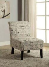Accent Chair Eucalyptus Dark Walnut Linen Modern Sleek Design Comfortable Seat