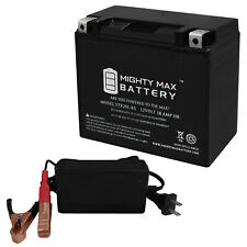 Mighty Max Ytx20L-Bs Replaces Harley-D 103 Fls (Softail) 12-17 + 12V 4Amp Chargr