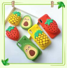 Cute Fruit Wallet Lanyard Silicon Phone Case Cover For iPhone11Pro 8Plus XR XS