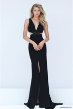 41c8fa3332 Sherri Hill 50839 Black Prom Dress Size 2   UK 6 Dh172 FF 09