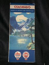 1957 Chevron/RPM Motor Oil COLORADO Points of Interest and Touring Map, Graphics