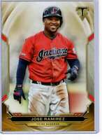 Jose Ramirez 2019 Topps Triple Threads 5x7 Gold #65 /10 Indians