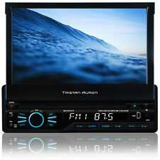 AUTORADIO 7 Zoll Bildschirm mit Bluetooth Navigation GPS DVD USB MP3 CD SD 1DIN