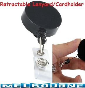 Retractable Lanyard ID Name Badge Card Holder Business Security Pass Tag Plastic