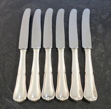 6 Dessertmesser Franz Bahner Messer L: 21,4 cm 90er Silber Auflage versilbert