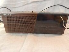 Vintage Sony Dream Machine Wood Grain Alarm Clock ICF-C17W