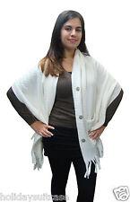 pour femmes hiver BLANC toucher doux polaire châle enveloppant écharpe