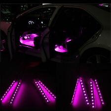 Pink Car Decorative Light Charge LED Interior Floor Decoration Lamp 12V 4 In 1