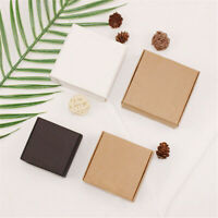 Craft Jewelry Handmade Kraft Paper Box Cardboard Package Wrapping Candy Storage