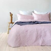Paisley Floral Dusk Embossed Coverlet Set By Bambury | fits Queen Or King