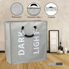 Large Collapsible Laundry Hamper, Foldable Clothes Bag, Washing Hamper Bin  //#
