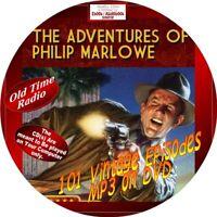 ADVENTURES OF PHILLIP MARLOWE OLD TIME RADIO SHOW - 101 VINTAGE EPISODES-MP3-DVD
