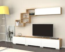 Parete attrezzata 210 cm moderna elegante mobile tv salotto salone soggiorno