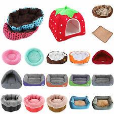Warm Fleece Dog Bed Round Pet Lunoger Cushion Cat Winter Kennel Puppy Mat Kit