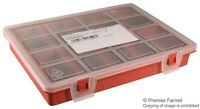 STORAGE BOX 10 COMPARTMENTS Heavy Duty Plastic HINGED Clip LID CRAFTS TOOLS etc