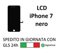 TOUCH SCREEN LCD DISPLAY RETINA PER APPLE IPHONE 7 NERO SCHERMO CON FRAME