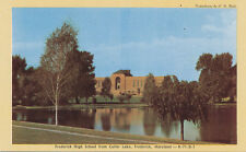 Frederick MD * Frederick High School from Culler Lake ca. 1950s