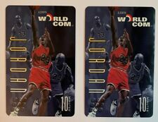 MICHAEL JORDAN Chicago Bulls HOF Triple Image 10 Worldcom Phone Cards Lot of 2