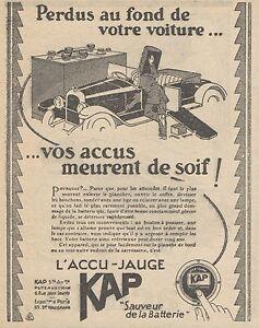 Z9105 KAP Sauveur de la Batterie -  Pubblicità d'epoca - 1928 Old advertising