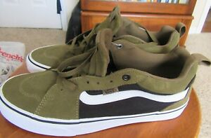 Vans Off The Wall Vintage Low Cut Olive Green Suede/ Canvas Mens Skate Shoes 9.5