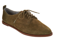 ED Ellen DeGeneres Leather Lace-up Oxford Shoes Kulver Chive Womens 11 New