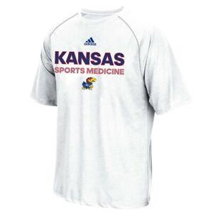 "Kansas Jayhawks NCAA Adidas Men's Sideline ""Sports Medicine"" White T-Shirt"