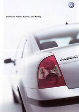 VW PASSAT B5 Business Family Sondermodell Ausstattungen Pakt Prospekt 2002 /20