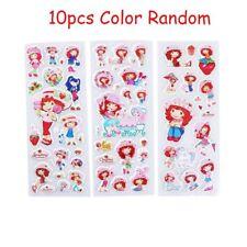 10Sheets PVC Stickers DIY Scrapbook Kindergarten Reward Lovely Strawberry Girl