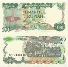 "1982 Only INDONESIA Nice ""LIMARATUS"" or 500 RUPIAH NOTE With GIANT CORPSE FLOWER"