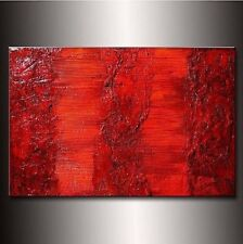 Original Texture modern Orange abstract painting contemporary Canvas art by HP