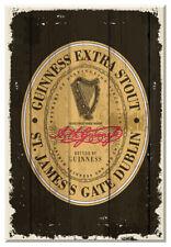 Guinness Nostalgic Wooden Sign-Heritage Label
