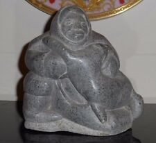 Vintage Inuit Eskimo Art Sculpture Stone Carving Signed and Numbered