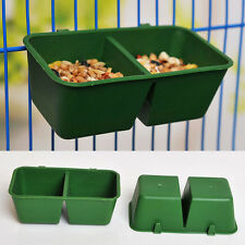 1PC 2 in 1 Platic Pigeon Parrot Bird Cage Hanging Bowl Feeder Feed Drinker Sink