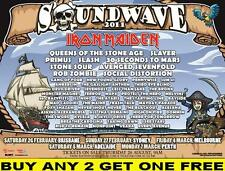 SOUNDWAVE 2011 Iron Maiden Laminated Australian Tour Poster
