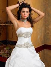 NEW, Authentic St. Pucchi Isabella Z209 Wedding Dress D. White Silk Strapless 6