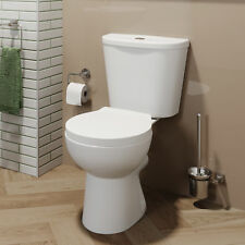 Close Coupled Toilet Ceramic Toilet WC Bathroom Pan Cistern and Soft Close Seat