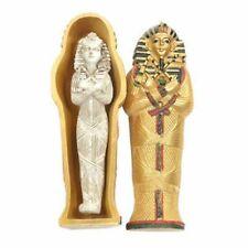 Gold Egyptian Tutankhamen Sarcophagus Trinket Box with Mummy Gift Novelty