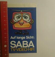 ADESIVI/Sticker: sul lungo periodo SABA TV VIDEO HI-FI (270916165)