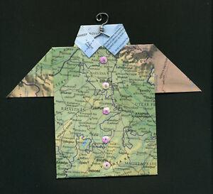 Origami Map Shirt India, Delhi, Jaipur, Kānpur, Cawnpore, Bhopāi, Indore, Kota