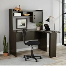 L Shaped Desk In Espresso