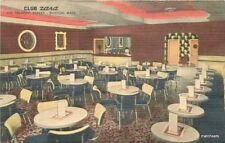 1940s Boston Massachusetts Club Zara Interior Tichnor Linen postcard 10851