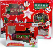 Disney Mickey Mouse Holiday Express 36 pc Collector Train Set & Goofy's Coal Car