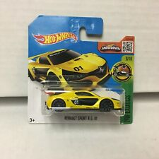 SHORT CARD * Renault Sport RS 01 * Yellow * 2016 Hot Wheels * HB1