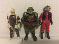 Vintage Kenner Star Wars Action Figures: NIEN NUNB / GAMORREAN / DENGAR