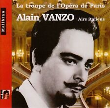 Alain VANZO / Airs Italiens - La Troupe de l'Opera de Paris / (1 CD) / NEUF