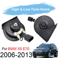 12V 125db 410/510Hz Dual Tone Snail Horn For BMW X5 E70 06-13 Loud Waterproof