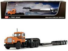 "Mack R Day Cab with Talbert Tri-Axle Lowboy Trailer J.V. III Construction Inc."""