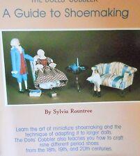 "Miniature Shoe Patterns Fit 5 1/2"" Doll & Heidi Ott  A Guide To Shoe Making"