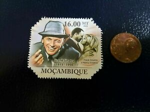 Frank Sinatra Nancy Sinatra Blue Eyes 2011 Mocambique Perforated Stamp