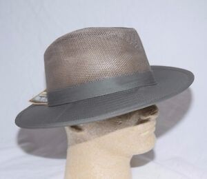 Dorfman Pacific Safari Hat UPF Mesh Crown Mens Olive Sizes Medium,  Large or XL